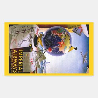 Imperial Airways Globe Stickers