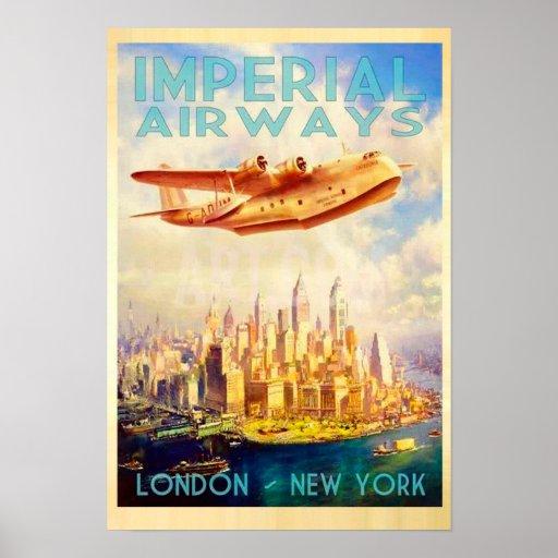 Imperial Airways London & New York Vintage Travel