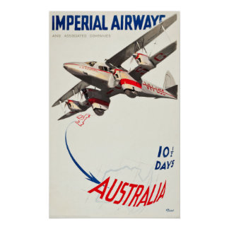 Imperial Airways Travel Poster