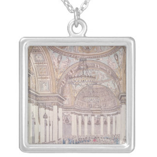 Imperial Banquet in the Grand Salon Silver Plated Necklace