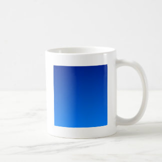 Imperial Blue to Azure Horizontal Gradient Basic White Mug