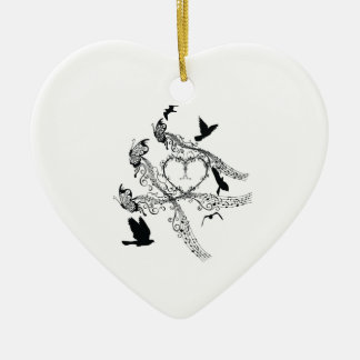Imperial court music flapping christmas ornament