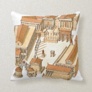Imperial Forum. Rome. Aerial view Cushion