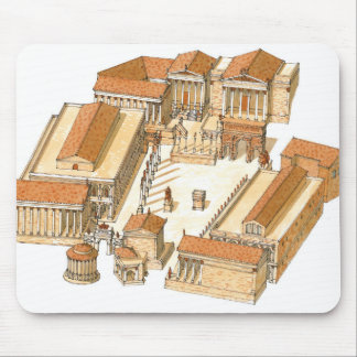 Imperial Forum. Rome. Aerial view Mouse Mat