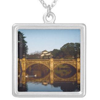 Imperial Palace, Nijubashi Bridge, Tokyo, Japan Silver Plated Necklace
