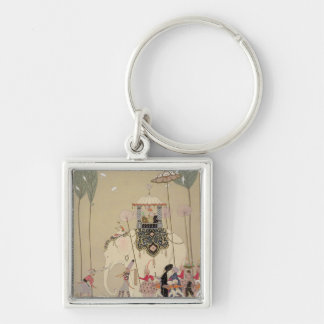 Imperial Procession (colour litho) Silver-Colored Square Key Ring