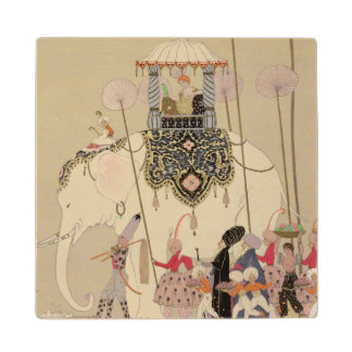 Imperial Procession (colour litho) Wood Coaster