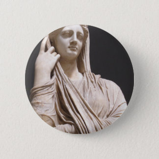 Imperial Roman women - statue 6 Cm Round Badge