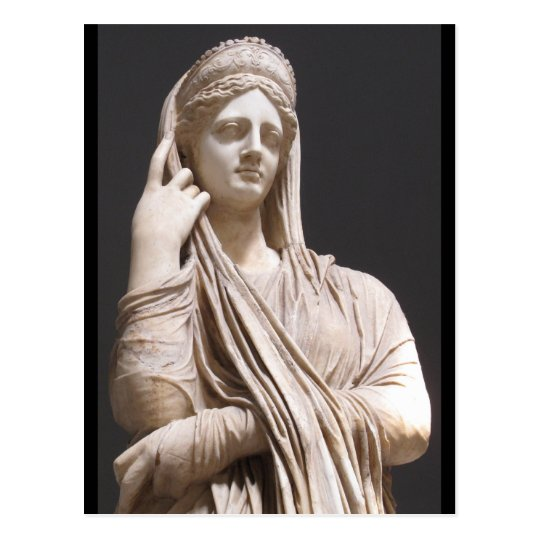 Imperial Roman women - statue Postcard