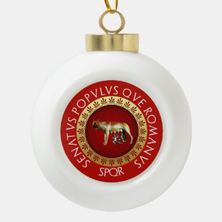 Imperial Rome Ceramic Ball Christmas Ornament
