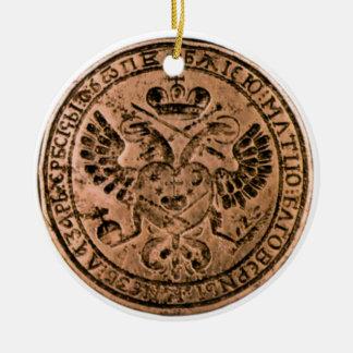 imperial seal round ceramic decoration