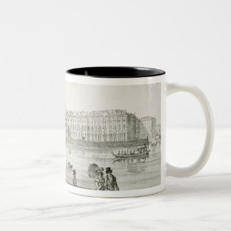 Imperial Winter Palace, St. Petersburg (litho) Two-Tone Mug