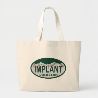 Implant license oval tote bags