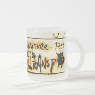 import from nature frosted glass mug