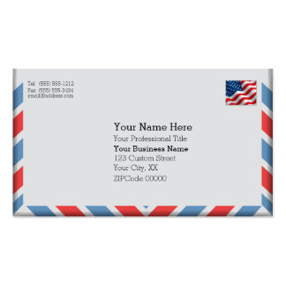 Important Air Mail Envelope Pack Of Standard Business Cards
