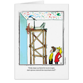 IMPORTANT cartoon by Ellen Elliott Greeting Card