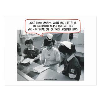 Important Nurse - Adorable Hat Post Card