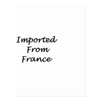 Imported From France Postcard