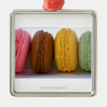 Imported gourmet French macarons (macaroons) Silver-Colored Square Decoration