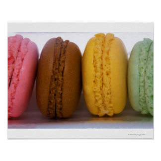 Imported gourmet French macarons macaroons Poster