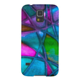 imposing abstract blue cases for galaxy s5