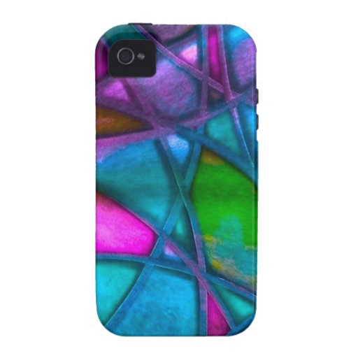 imposing abstract blue iPhone 4 cases