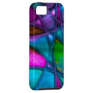 imposing abstract blue iPhone 5 cases