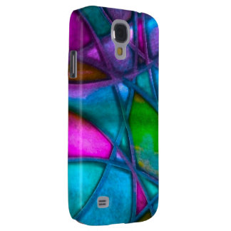 imposing abstract blue samsung galaxy s4 cases
