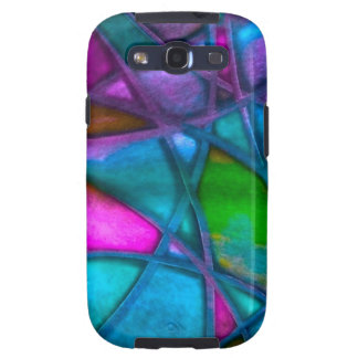 imposing abstract blue galaxy SIII cases