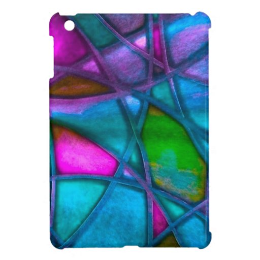 imposing abstract blue iPad mini covers