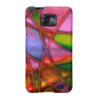 imposing abstract red samsung galaxy SII case