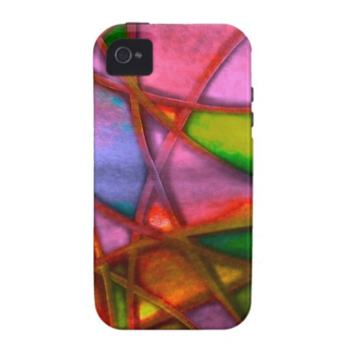 imposing abstract red iPhone 4 cover