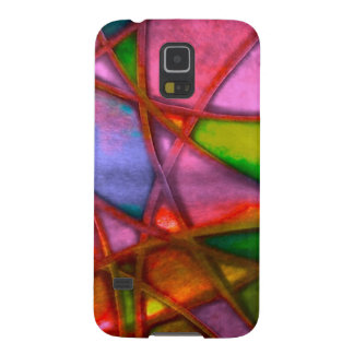 imposing abstract red galaxy s5 case