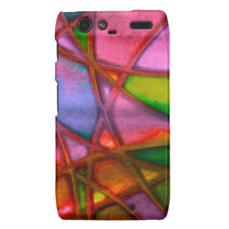 imposing abstract red droid RAZR cases
