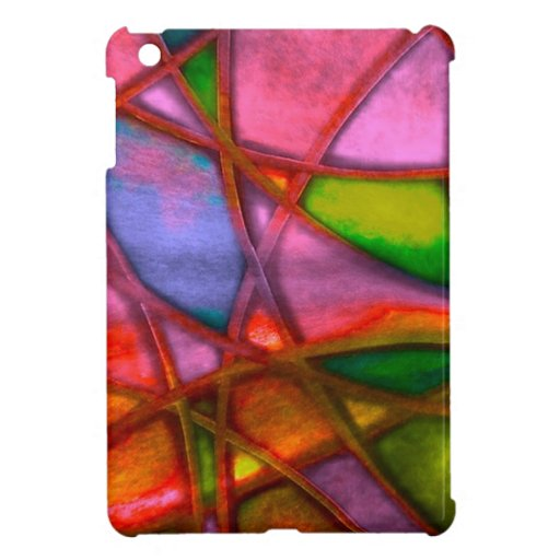 imposing abstract red cover for the iPad mini