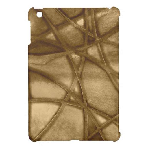 imposing abstract sepia iPad mini cases