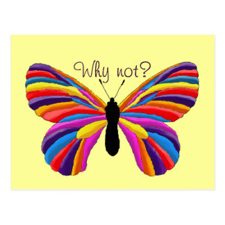 Impossible Butterfly - Why Not? Postcard