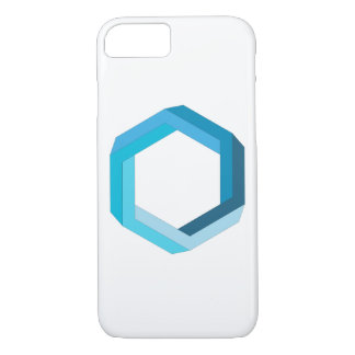 Impossible geometry: Blue hexagon. iPhone 7 Case