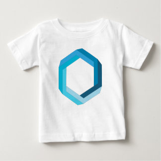 Impossible geometry: Blue hexagon. Shirt