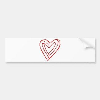 Impossible Heart Optical Illusion Bumper Sticker