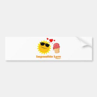 Impossible Love Car Bumper Sticker