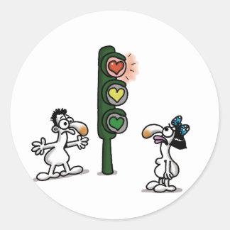 Impossible Love - Love Light Round Sticker