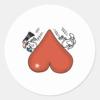 Impossible Love - Love Slide Round Sticker
