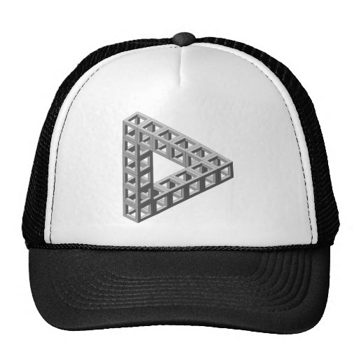 Impossible Optical Illusion Triangle Hat