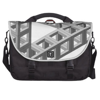 Impossible Optical Illusion Triangle Laptop Computer Bag