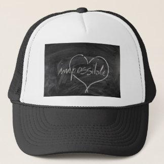 Impossible possible blackboard and chalk trucker hat