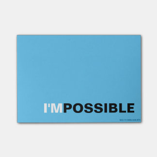 I'MPOSSIBLE POST-IT NOTES