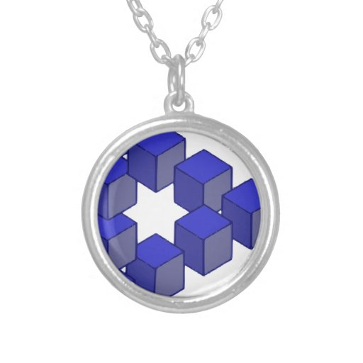 Impossible Staircase of Squares Optical Illusion Necklace