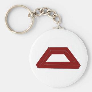 Impossible Trapezoid Optical Illusion Basic Round Button Key Ring