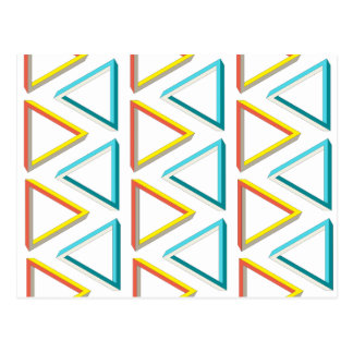 Impossible triangles geeky pattern postcard